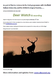Ec-science & History in the Park Deer Watch 1